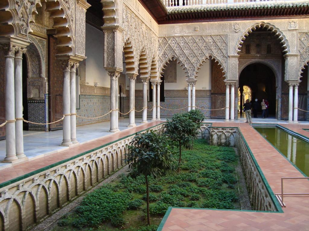 Кралският дворец в Севиля - патиото на девиците