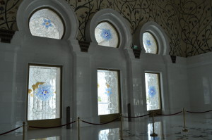 Стъклописи в джамията Шейх Зайед в Абу Даби