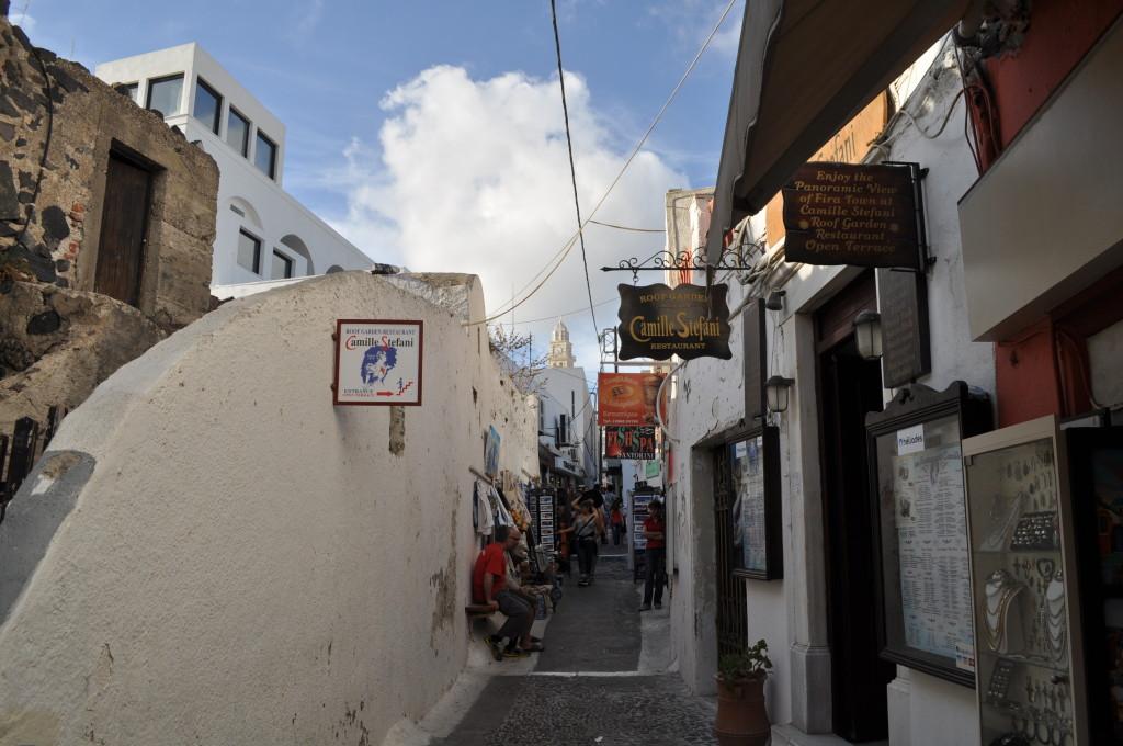 Старите улички във Фира