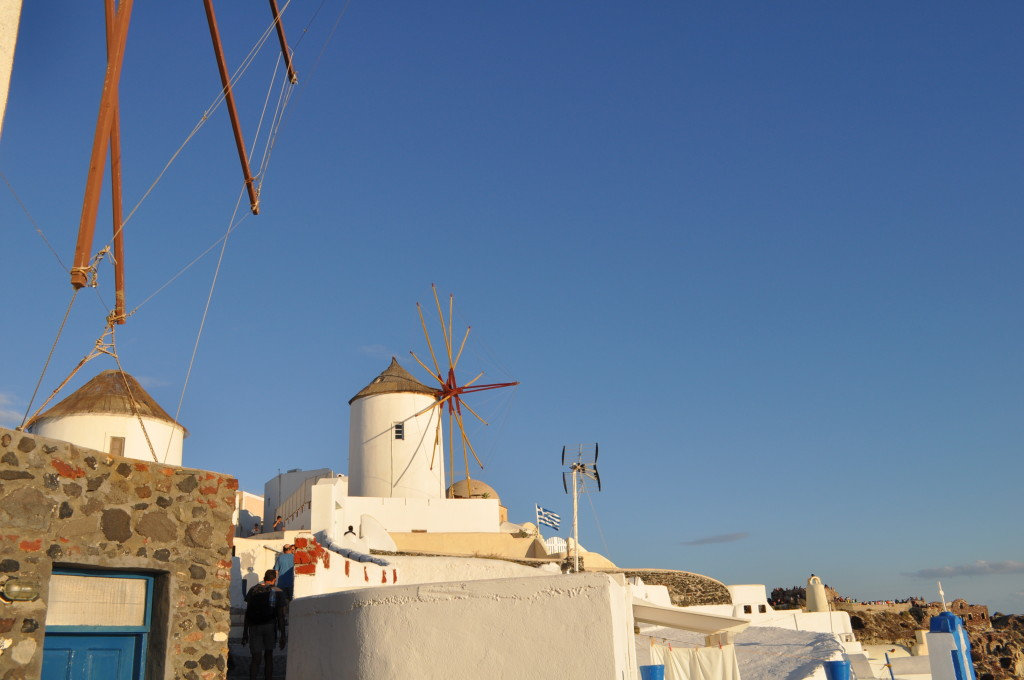 Вятърни мелници в Ия, Санторини