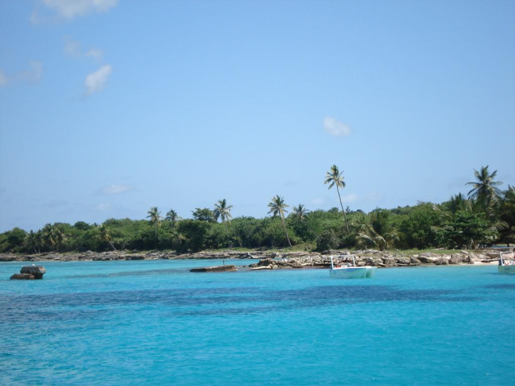 Цветът на водите в Карибско море