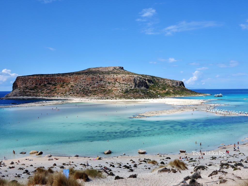 Плажната лагуна Балос на остров Крит