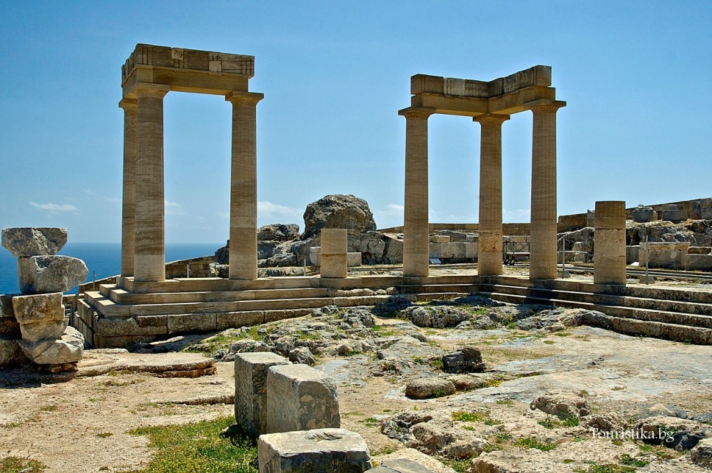 Храмът на Атина в Линдос, остров Родос