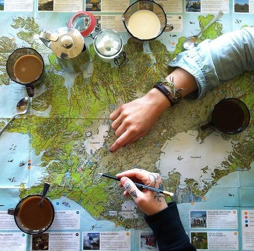 Истинският пътешественик не може да си представи живота без карта :)